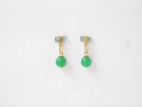 Chalcedoon Bolletjes en een Pakketje van Smaragd