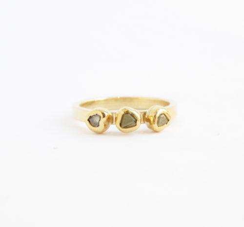 Gele Octaeder Diamanten