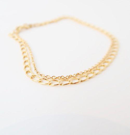 Gouden SchakelArmband