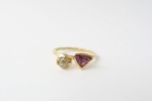 Ruwe Diamant met Toermalijn