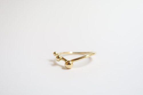 Ring met 3 Gouden bolletjes