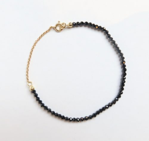 Zwart Fonkelend Armbandje