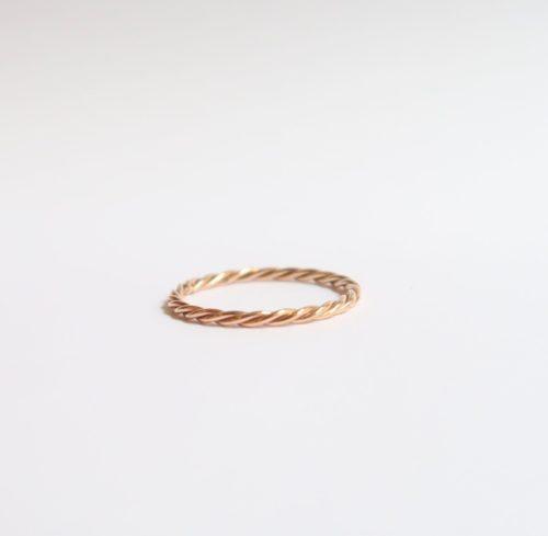 Gedraaide Ring in Roodgoud