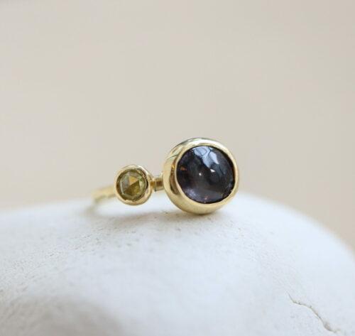 Een Donkere Spinel en een Gele Diamant